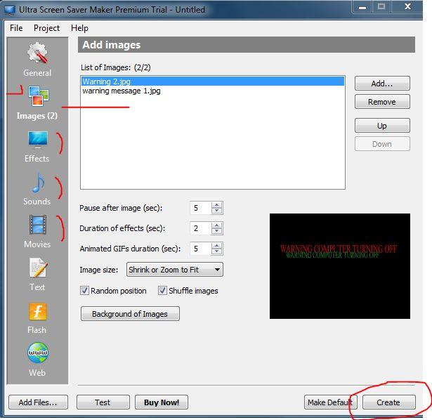 Ultra screensaver maker
