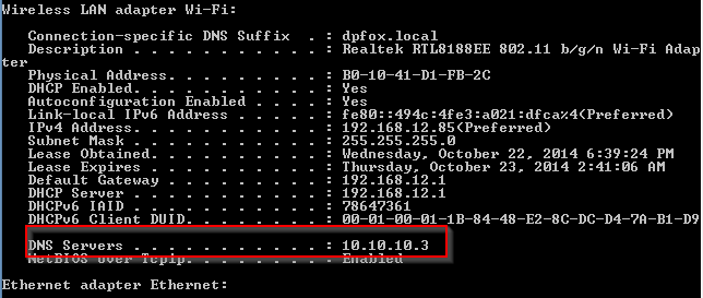 DNS issue