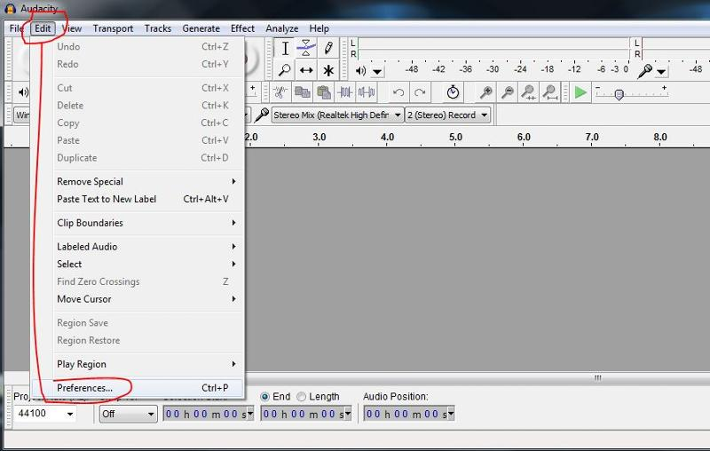 audacity edit preferences