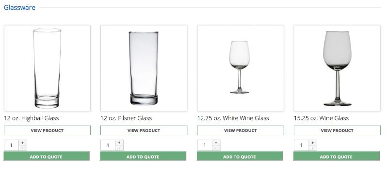 product grid screenshot