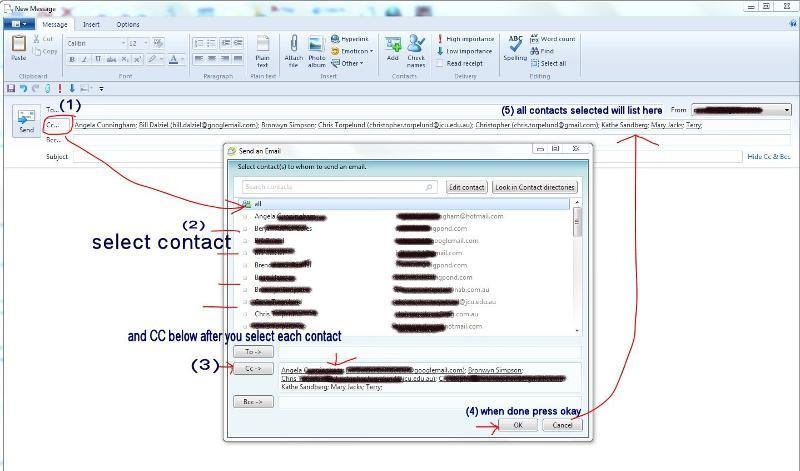 CC emails