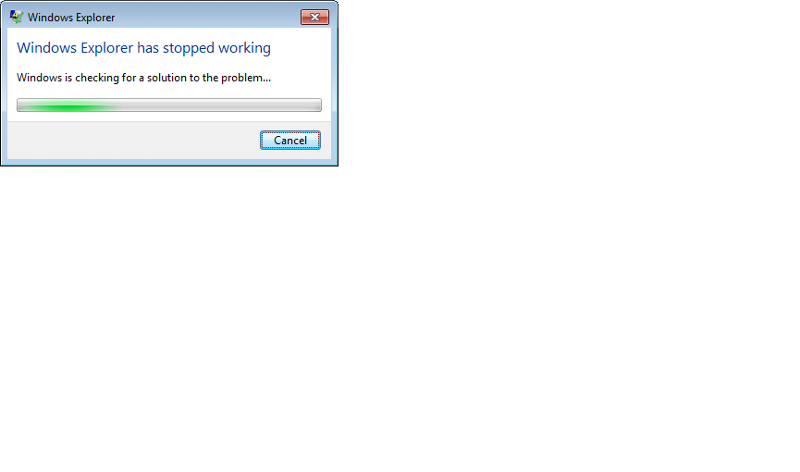 Windows Explorer stopped working