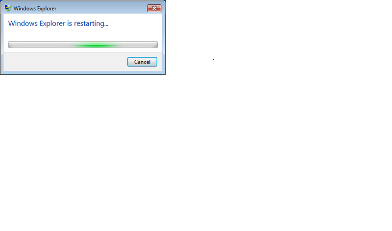 Windows Explorer Restarting