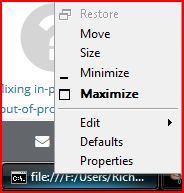 Right-clicking on the taskbar icon, does not show a close option.