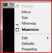 The same is true by right-clicking on the menu bar of the console window.  No close option.