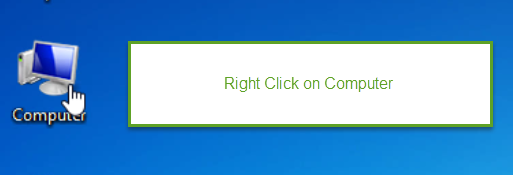 right click on computer