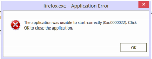 Firefox and IE error