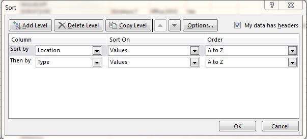 manual sort data