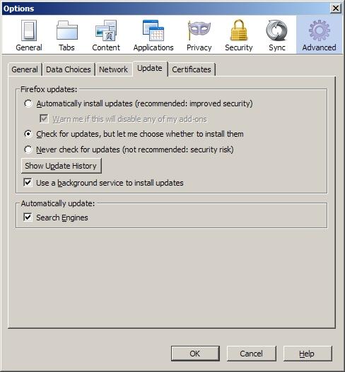Tools > Options > Advanced