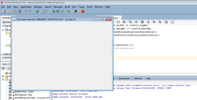 Second Class instance running JDeveloper IDE