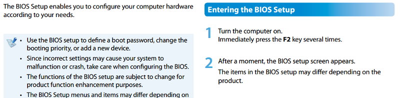 how to enter the BIOS on a Samsung AIO