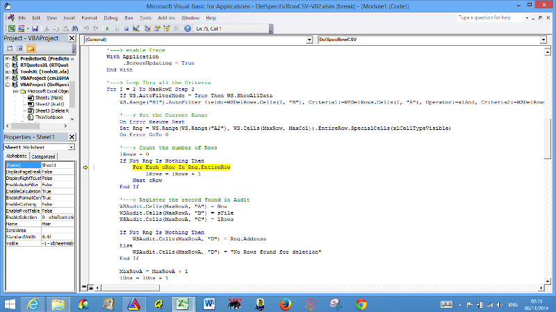 Code line error