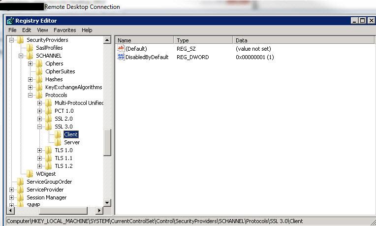 SSL3 client