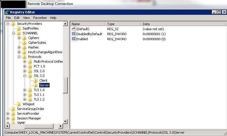SSL3 server