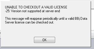 License prompt