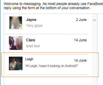 "The 3rd line ""Leigh"" has no replies as yet and doesnt show which I need it to?"
