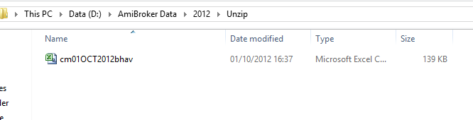 This is unzip folder where only one file is available.