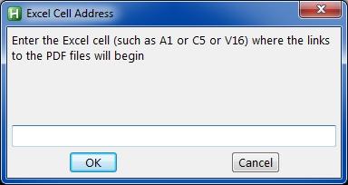 enter Excel cell address