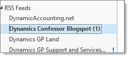 Duplicate RSS folder