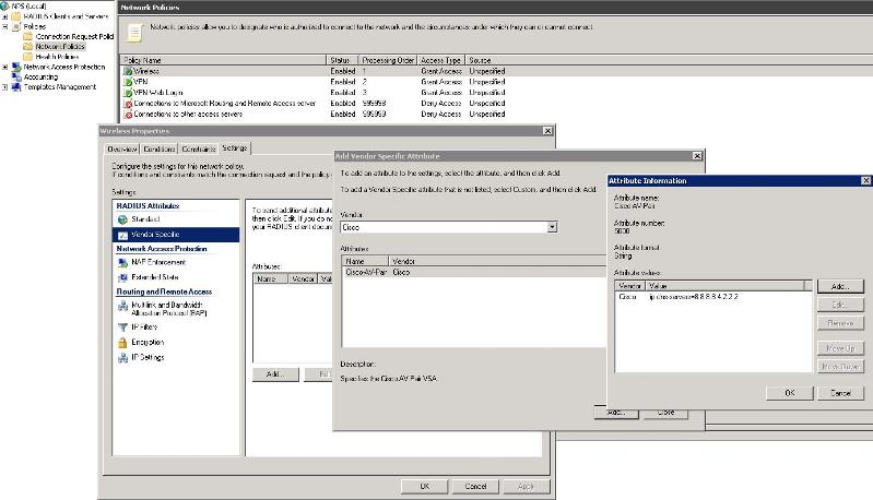 NPS Cisco AV-Pair