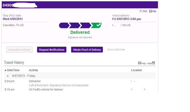 FedEx Tracking Information