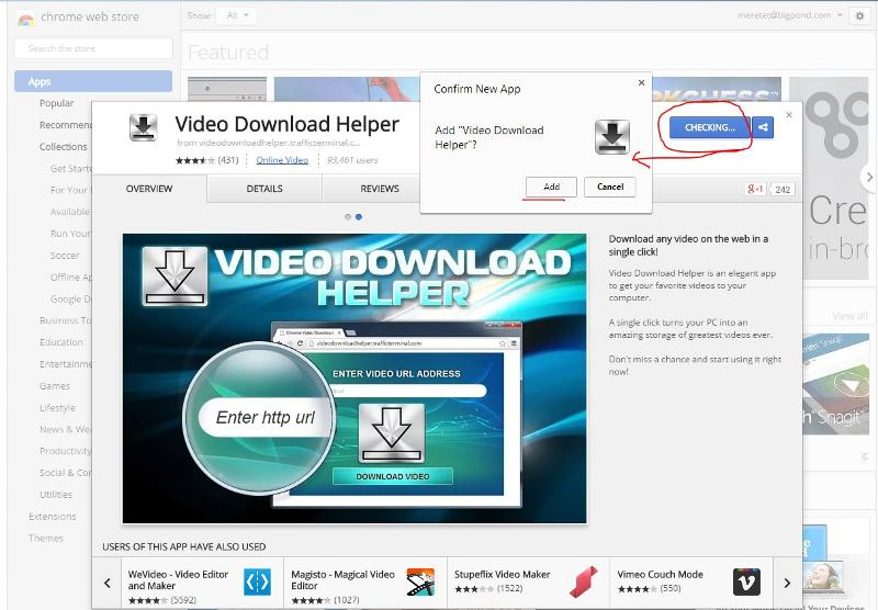 Download helper for Chrome