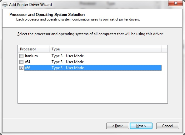 "Screenshot of the ""Add Printer Driver Wizard"""