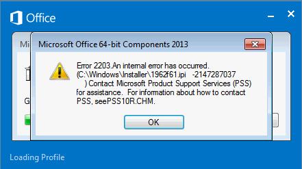 Error 2203