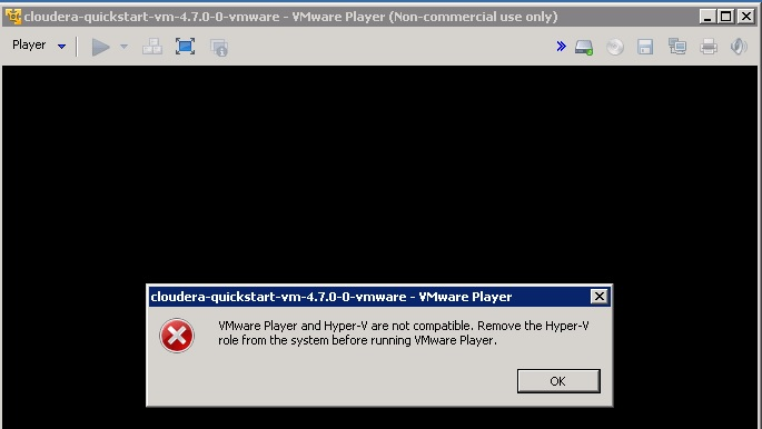 VMWare Player and Hyper-V not compatible
