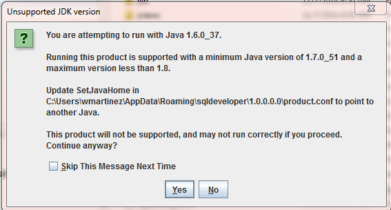Unsupported Java version