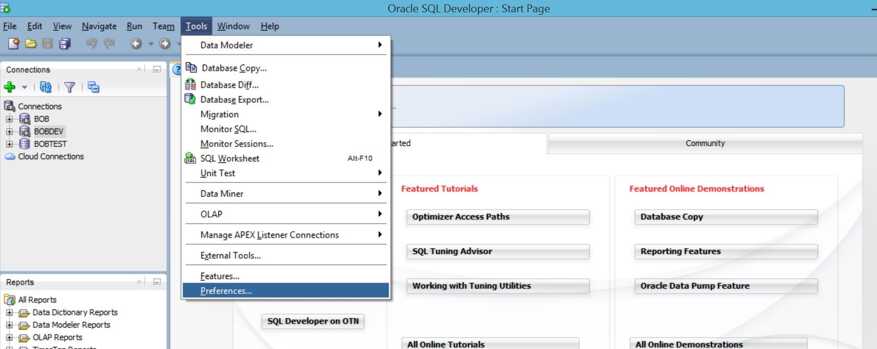Sql developer database diff disabled dating