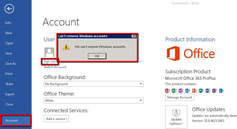 Office 365 Error