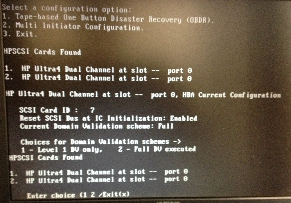 Cannot See Storage on Ultra SCSI 320 Bus Adapter on DL360p