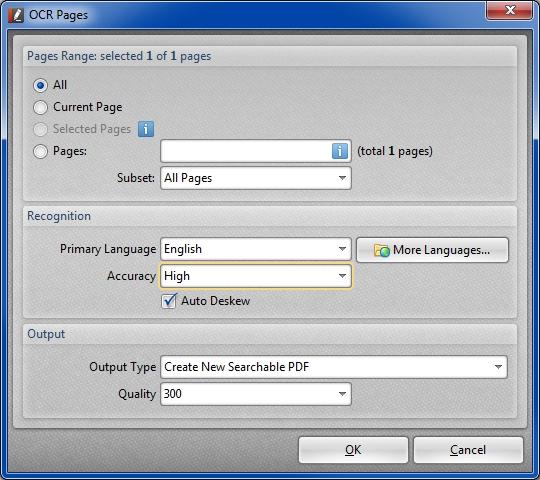 PDF-XChange Editor Free OCR