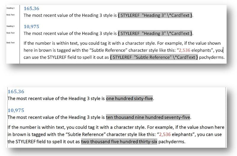 Using STYLEREF to report a value as cardinal text