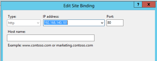 Add/Edit a Binding in IIS