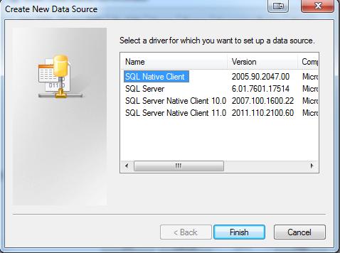 SQL driver versions