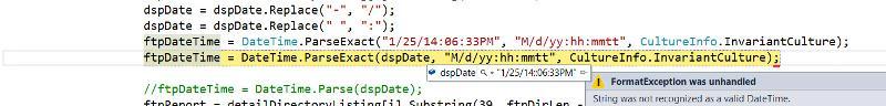 date error