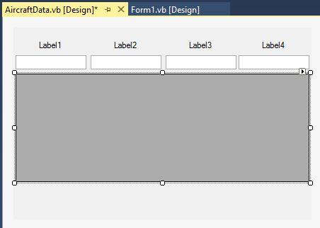 "Example UserControl ""AircraftData"""