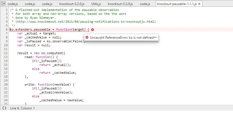 Error within Chrome