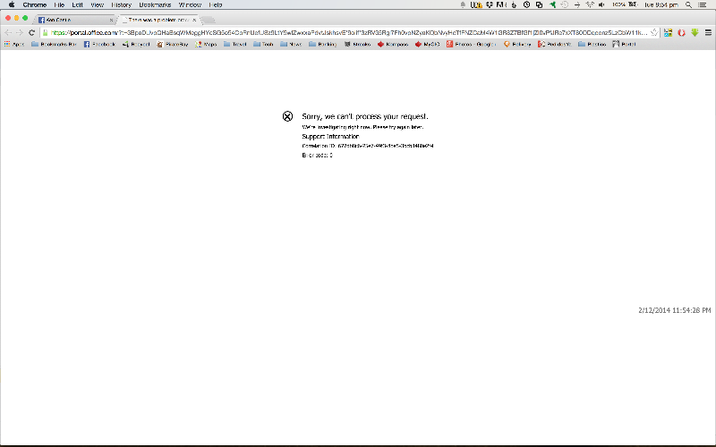Screenshot of Office Portal