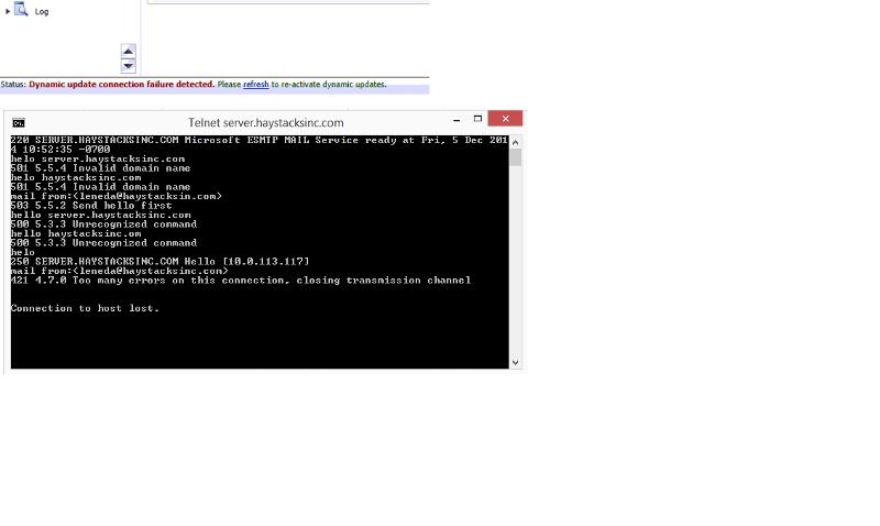 telnet errors