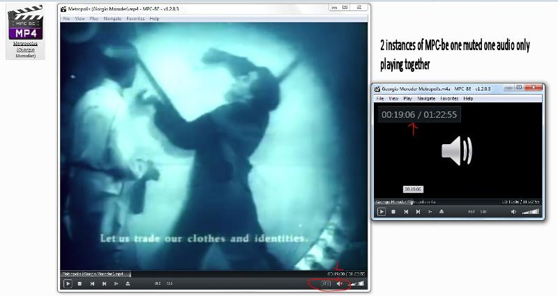 2 instances of media player classic-be