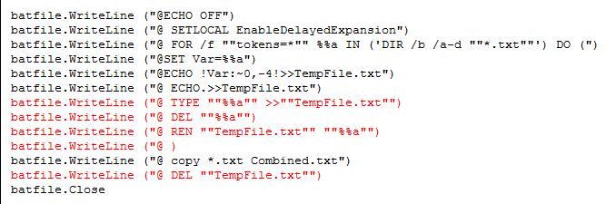 Convert  bat file to VBA