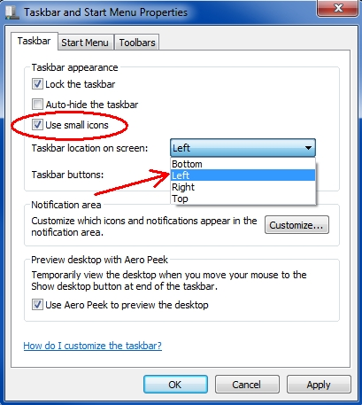 move taskbar