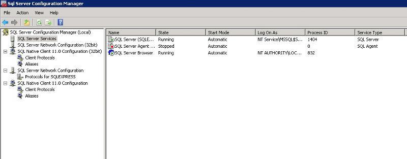 SQL 2014 server express settings 4