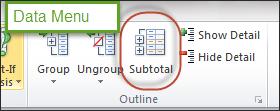 Subtotal icon