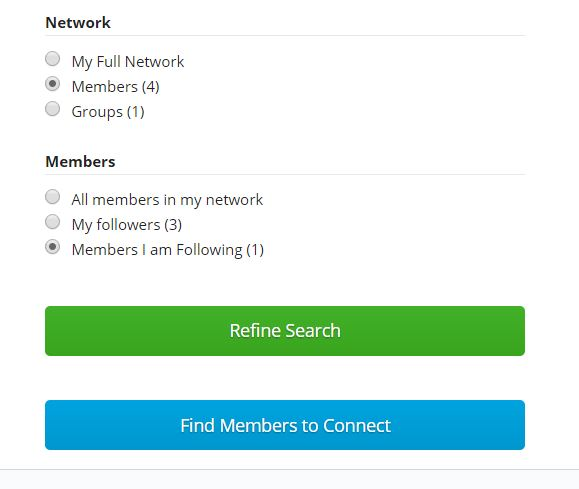 Network in my profile