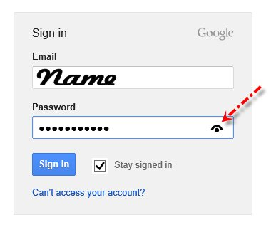 Password eye check