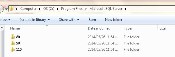 under Program Files/Microsoft SQL Server/